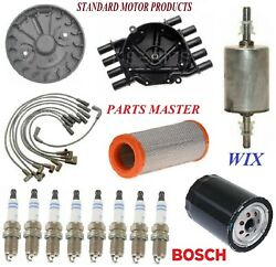 Tune Up Kit Filters Cap Plugs For Chevy Express 2500 V8 5.0l 5.7l Gas 01-02