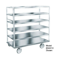 Winholt BNQT-4SS Stainless Steel Queen Mary Banquet Cart with 4 Pan Capacity