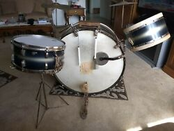 Vintage Leedy Drum 3-piece Set Purchased In 1940 Good Condition