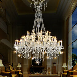 Palace 45 Lights Crystal Chandelier Shinning Hotel Hall Light Ceiling Fixtures