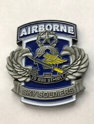173rd Support Battalion Sky Soldiers Airborne Commander's Coin For Excellence R2