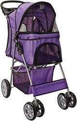 : Paws & Pals City Walk N Stride 4 Wheeler Pet Stroller for Dogs and Cats : Pet