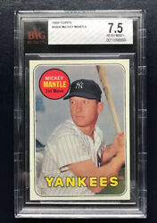 1969 Topps Mickey Mantle #500A - BVG 7.5 NEAR MINT+! A RARE BEAUTY! PRICE DROP!