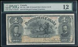 1898 Canada 1 The Dominion Of Canada Dc-13a Inward 1and039s Series A-d Pmg F 12