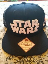 Star Wars Patches Hat Light and Dark Side Snapback NWT Black