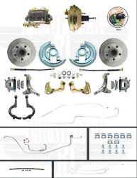 1962-1965 Chevy Ii Nova Disc Brake Conversion With Line Kit And Steering Arms
