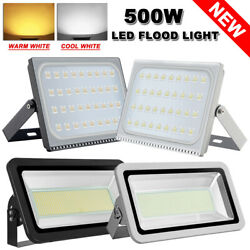 500 Watts LED Flood Lights Warm & Cool White Outdoor Lighting IP65 Fixtures 110V