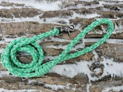 8 Strand Paracord Dog Leash with Metal Clasp - Mint