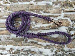 8 Strand Paracord Dog Leash with Metal Clasp - Purple Mix