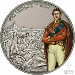 Niue - 2017 Battle Of Waterloo 1 Oz Silver Coin Antiqued - History - 2nd Coin