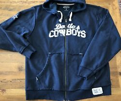 Dallas Cowboys Legends Collection Vintage Xl Full Zip Hoodie Jacket Stitched