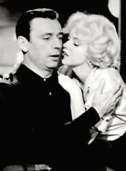 Marilyn Monroe 1960 Vintage Press Photo Let's Make Love Yves Montand Date Stamp