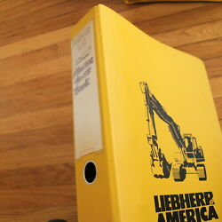 Liebherr R942-lc Tracked Excavator Parts Manual Catalog Book Spare List Trackhoe