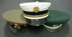 Set Of 3 Military Hats Russian Army Officer's