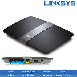 Refurbished Cisco Linksys E4200 Dual-band Wireless-n Router - 750mbps 1x Usb
