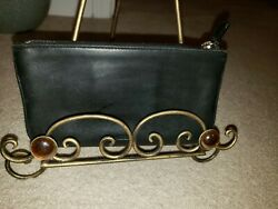 Black leather coach cosmetic bag exc. condition $39.99