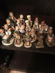 Collection Of 21 Vintage Hummel Porcelain Figurinesgoebel W.germany+3music Boxes