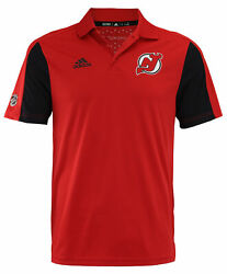 Adidas Nhl Men's New Jersey Devils 2017 Authentic Game Day Polo Shirt