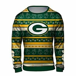 Forever Collectibles Nfl Men's Hanukkah Green Bay Packers Ugly Crew Neck Sweater