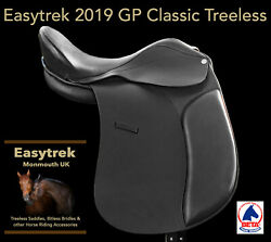 Easytrek VSD Dressage Close Contact Leather Saddle in Black or Havanna Brown
