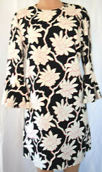 Valentino Multi-color Floral 3/4 Bell Sleeves Wiggle Pencil Dress Size 12