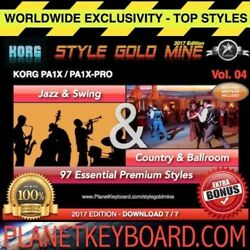 97 New Super Styles Swing Jazz And Country Ballroom Korg Pa1x Pa1x Pro New Edition