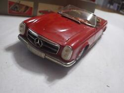 Schuco Real Elektro Germany Red Mercedes-benz 230sl Tinplate/electric 275-mm