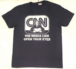 The Media Lies Open Your Eyes - Fake News - President Donald Trump Menand039s T-shirt