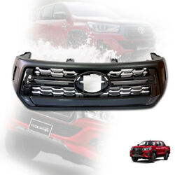 Front Grille Grill Matte Black For Toyota Hilux Revo M70 M80 Rocco 2018-2020