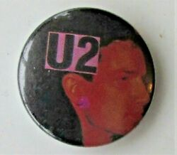 U2 Group Old Metal Button Badge From The 1980's Vintage Retro Bono