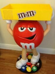 Brand New Mandm Red Character Candy Store Display With Storage Tray Free Shipping