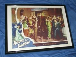 House Of Dracula Universal Studios Theme Park Ride Prop Poster Monsters/movie