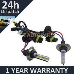 2X BULBS FOR AFTER MARKET HID CONVERSION KIT XENON 3000K YELLOW 55W PLUG