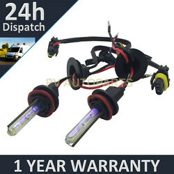 2X BULBS FOR AFTER MARKET HID CONVERSION KIT XENON 3000K YELLOW 35W PLUG