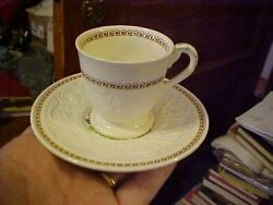 8 Demitasse Cup And Saucers Windermere By Wedgwood Patrician England As Is