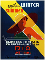 7690.decoration Poster.home Room Wall Design Art Print.empress Of Britain Cruise