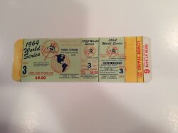 Full Yankees Mantle World Series Hr Ticket 16 1964 G3 Passes Babe Ruth Proof