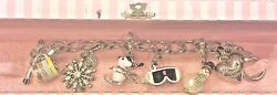 Juicy Couture Skiing Charm Bracelet W/ 5 Removable Charms