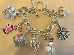 Juicy Couture Christmas Charm Bracelet W/ Removable Charms