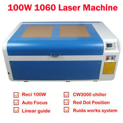 Reci 100w Co2 Laser Engraver And Cutting Machine Sl1060 And Cw3000 Chiller Us Stock