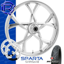 Rotation Sparta Chrome Custom Motorcycle Wheel Package Harley 21 Touring
