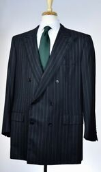 Brioni Mens Bespoke Double Breasted Super 160's Wool Suit Sz 50 60 R NEW $7750