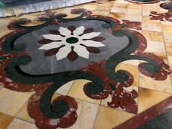 Spectacular Pietre Dura INLAY Marble Dining Table 86