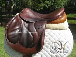 18.5 Devoucoux Chiberta Calfskin French Cross Country Jumping Saddle-2r Flaps