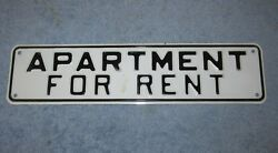 Vtg Apartment For Rent Embossed 12 Sign Office/bar/store/yard/man Cave S452
