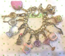 Juicy Couture Girly Theme Loaded Charm Bracelet With 11 Charms
