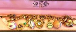 Beautiful Juicy Couture Sports Charm Bracelet With 6 Retired Charms