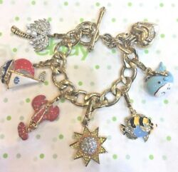 Juicy Couture Nautical Theme Charm Bracelet W/ 6 Retired Charms