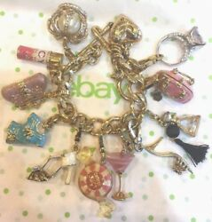 Juicy Couture Loaded Charm Bracelet With 11 Charms