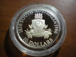 1986 Silver Proof 10 Coin From South Australia State Series Set